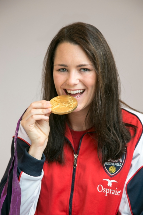 Jessica Steffens with Gold Medal